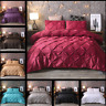 Diamond Alford / Pintuck Duvet Cover Set With Pillow Case Quilt Sets All Size