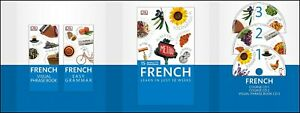 French Learn 15 Minutes a Day Language Course Phrasebook Grammar Guide 3 CD Set