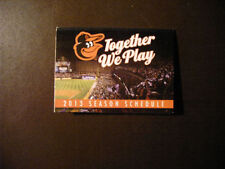 Baltimore Orioles Baseball Vintage Sports Schedules