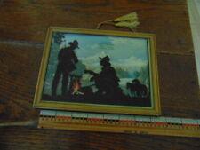 1949 reverse painted cowboys- Advert. from Corner Bar. Scranton, N Dak.