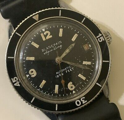 1960 Blancpain, Rayville, Aqua Lung 1000ft Diver, Bold Pre-Radiation Type, SEAL.