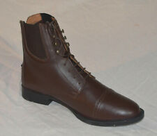 mens Paddock Riding Boots Brown size 9 Lace front Leather