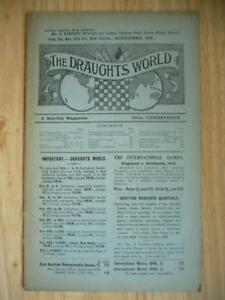 The Draughts World A Monthly Magazine Vol 38 No 179 1911 SCARCE