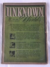 Unknown Worlds Pulp February 1942 Camp, Kuttner, Brown, L. Ron Hubbard