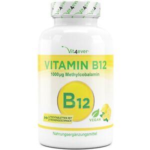 Vitamin B12 1000 mcg 365 Lutschtabletten (Vegan) - Zitrone - Methylcobalamin