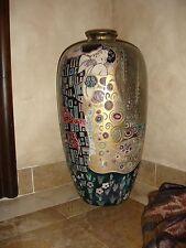 """Large 24"""" Porcelain Floor Vase """"THE KISS"""" After Gustav Klimt  EXTREMELY RARE"""