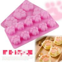 Silicone Cat's Paw Print Mould Chocolate Cookie Candy Soap Resin Wax Mold Q