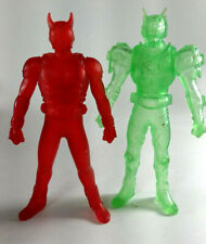 Kamen Rider Kuuga & Zolda 2 Clear Figures 2000 2002 Red Green Bandai Japan Ryuki
