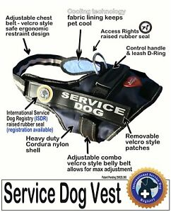 "SERVICE DOG  VEST -  the ""Walkabout"" by LuvDoggy"