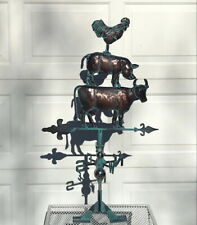 FARM BARNYARD ANIMALS Weather vane AGED COPPER HANDCRAFTED PATINA FINISH- NEW