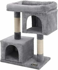 FEANDREA Cat Tree for Large Cats Cat Tower 2 Cozy Plush Condos and Sisal Posts