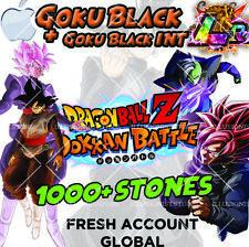 🌟 iOS - Dokkan Battle - Goku Black LR + Goku Black INT 1000+ Stones - Fresh