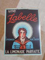 """PETITE PLAQUE PUBLICITAIRE """"Limonade ZABELLE"""" EPOQUE 1950/70 EN CARTON"""