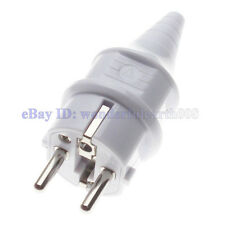 (2 PCS) Schuko EU 4.8mm Pin Rewireable AC Power Plug Max 250V 16A White