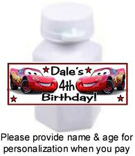 30 Cars Lightning McQueen Birthday Party Bubble Labels Stickers Baby Shower