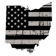 Ohio State (N36) Distressed Flag Vinyl Decal Sticker Car/Truck Laptop/Netbook Wi