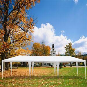 Heavy Duty Canopy Tent Waterproof Gazebo Wedding Marquee w/5 Side 30x10ft