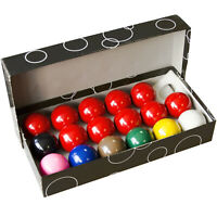 "SET of SNOOKER BALLS FOR HOME POOL TABLES - THE REDS AND COLOURS ARE ALL 2"" SIZE"