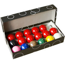 """SET of SNOOKER BALLS FOR HOME POOL TABLES - THE REDS AND COLOURS ARE ALL 2"""" SIZE"""