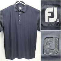 FootJoy FJ Mens Medium Golf Shirt Polo Black Polyester