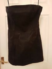 BNWT RRP£370 DESIGNER PIERRE BALMAIN BLACK STRAPLESS SHORT DRESS SIZE UK10 IT42
