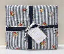 NEW Pottery Barn Emily & Meritt Garden Floral Stripe STANDARD Sham~Chambray Blue