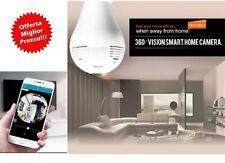 IP cam panoramica wifi 360 gradi hd audio video telecamera e27 SPIA LED FISHEYE
