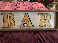 New listing Light Up Bar Sign (18.5� x 6�)