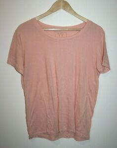 1Ft Basic Women's Casual Pale Pink Pastel Short Sleeve Top Tee T-shirt Size: XL