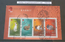 4 Hong Kong Used Stamps' Souvenir Sheet for Year of the Rabbit 2011