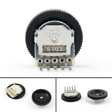 20PCS B103 16x2mm 10K Ohm Double Dial Taper Volume Wheel Duplex Potentiometer