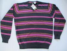 LA REDOUTE Mens Jumper répartis Pink Blue Orange 47 - 49 Chest 100% cotton NEW