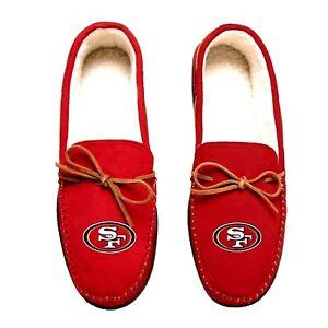 San Francisco 49ers NFL Team Color Men's Moccasin Slippers