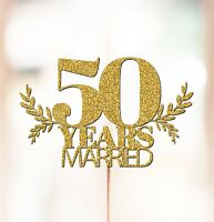 Personalised 50th Wedding Anniversary Cake Topper Decorations ANY YEAR P1409