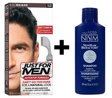 Just for Men Colorante Tinte Cabello autostop de hombre negro A55 + Nisim Champú 60ml
