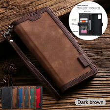 F Samsung S21 Note 20 Ultra S20 S10 Plus Flip Case Magnetic Leather Wallet Cover