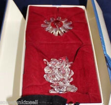 Swarovski Crystal Scs Renewal ~ Red Marguerite With Mini Flowers ~ Mint In Box