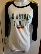 🔥🔥San Antonio Spurs NBA Long Sleeve Shirt Women's Medium Super Soft NWT🏀🏀