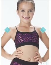 Kurve dancewear Girls Black Pink Sequin Bra Shorts Set OSFA 5 6 7 8 9 10 Dance