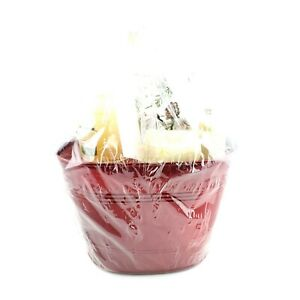 Yankee Candle Gift Set 3 Candles Included Glass Candle Floral Holder USA Seller