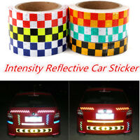 25MMX10M High Intensity Safety Reflective Vinyl Roll Chequer Tape Self-Adhesive