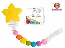 *NEW Baby Teething Toy Pacifier Clip Unisex Silicone Beads -  Baby Shower Gift!