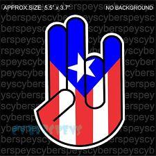 Puerto Rico Flag Shocker Drift Racing JDM Design Car Vinyl Sticker Decals