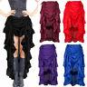 Women's Vintage Victorian High Low Bustle Skirt SteamPunk Retro Gothic Dress