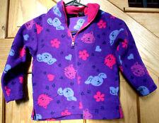 ebd8cfbccf8 Girls Sonoma Size M(5) Purple   Pink Half Zip Fleece Jacket With Cats