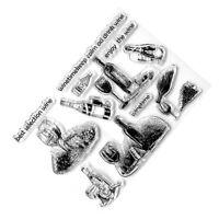 transparentes Silikon klar Briefmarken DIY Scrapbooking Karten