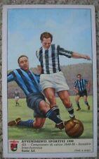 INTER JUVENTUS BONIPERTI GIOVANNINI CALCIO 1950 CARD FIGURINA LAVAZZA