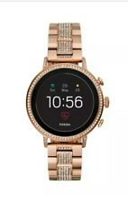 Fossil Women's Gen 4 Q Venture HR Stainless Steel Smartwatch -Rose Gold FTW6011J