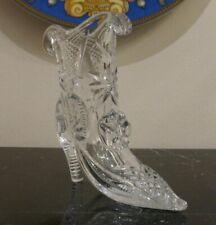 Fine Cut Glass Crystal Shoe Boot Vase
