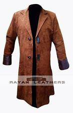 Nathan Fillion Firefly TV Series Malcolm Reynolds Brown Suede Leather Coat